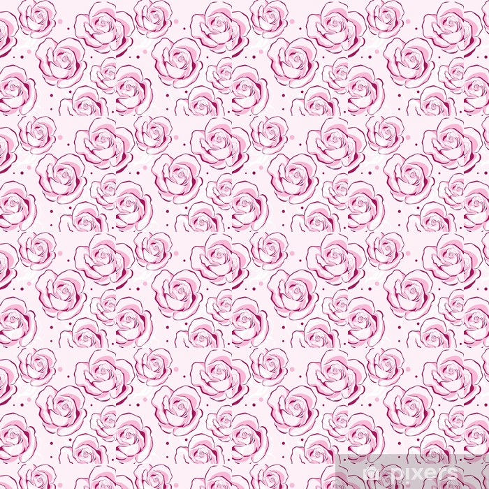 Vinylová tapeta na míru Vzor s růžemi - Pozadí