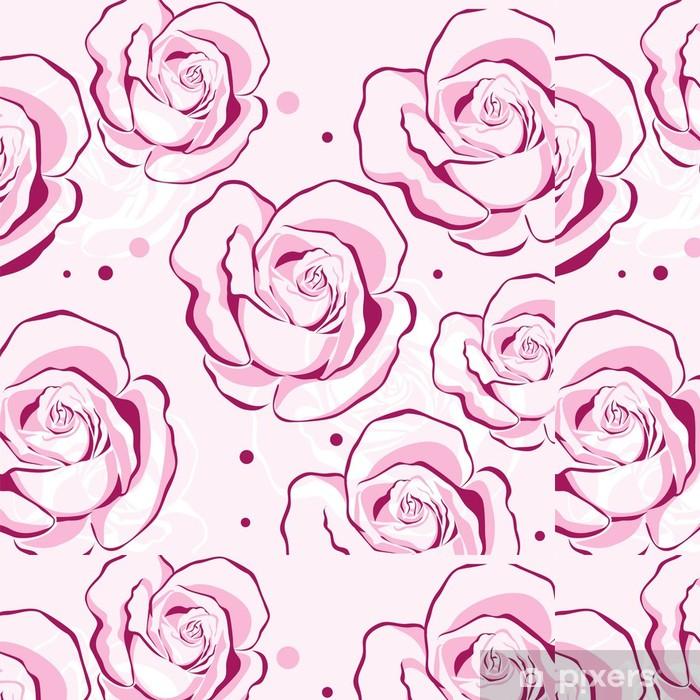 Vinylová Tapeta Vzor s růžemi - Pozadí