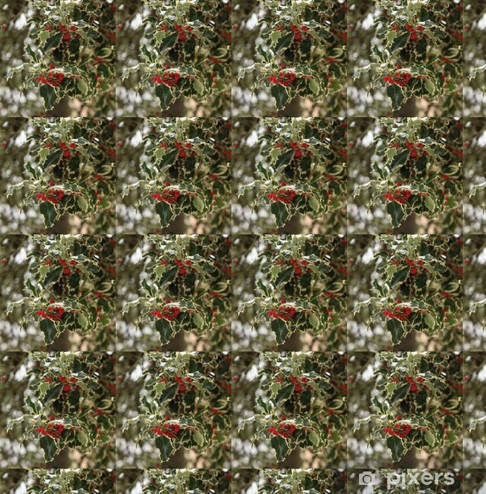 Papier peint vinyle sur mesure Houx bicolore commun ou ilex aquifolium - Fêtes internationales