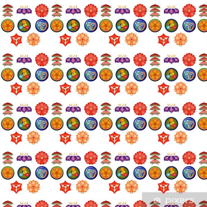 家紋 笠あやめ Vinyl custom-made wallpaper - Signs and Symbols