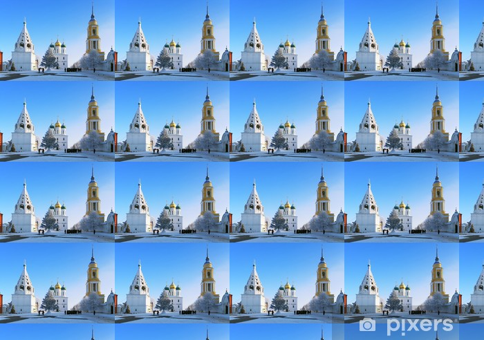 Vinyltapete nach Maß Cathedral Square in Kolomna Kremlin am Winter, Kolomna, Russland - Asien