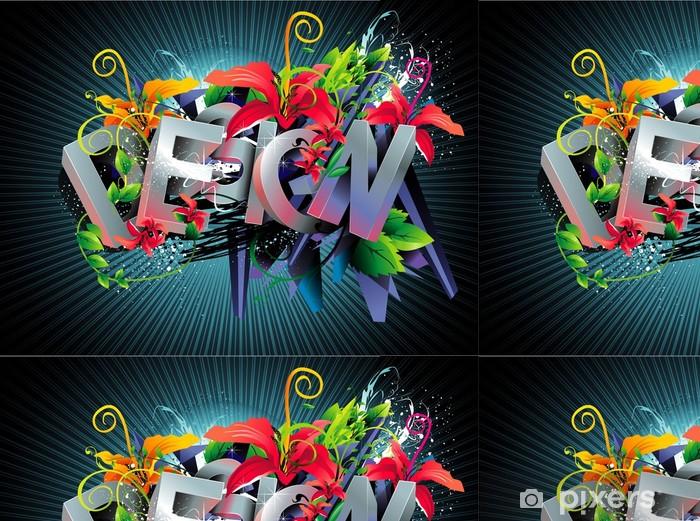 Vinyl Behang Vector tekst ontwerp illustratie - Achtergrond