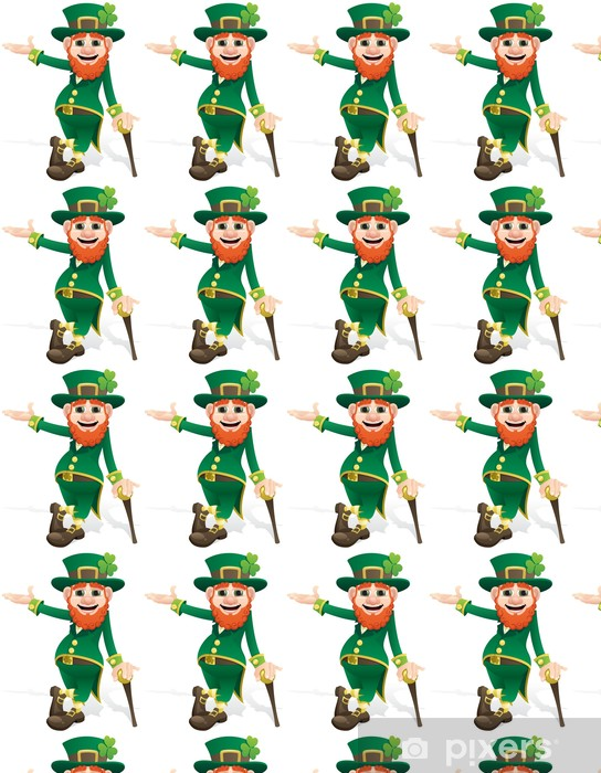 Leprechaun Presenting Vinyl custom-made wallpaper - Happiness