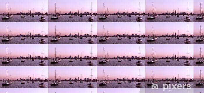 Vinylová tapeta na míru Melbourne Panorama - Oceánie