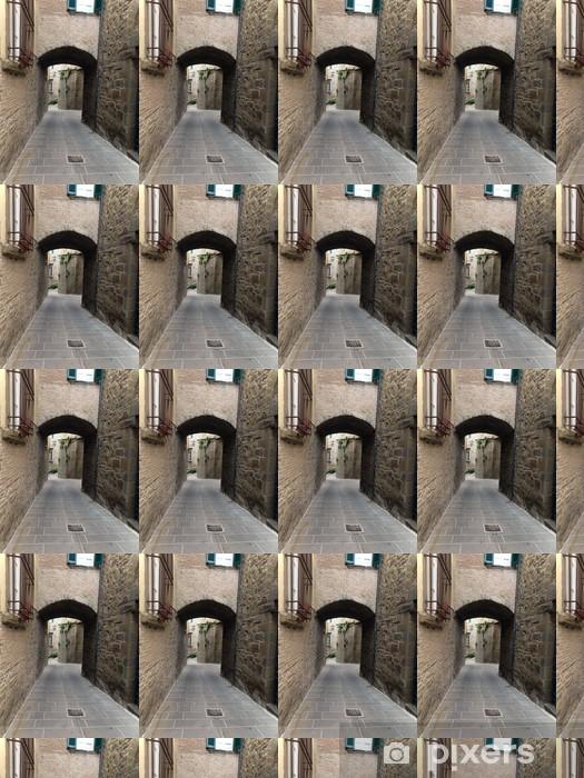 Tapeta na wymiar winylowa Ulica w Cortona, toskańskie miasto etruskiego pochodzenia - Europa