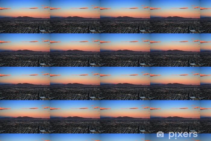 Papier peint vinyle sur mesure Las Vegas coucher de soleil vue aérienne - Amérique