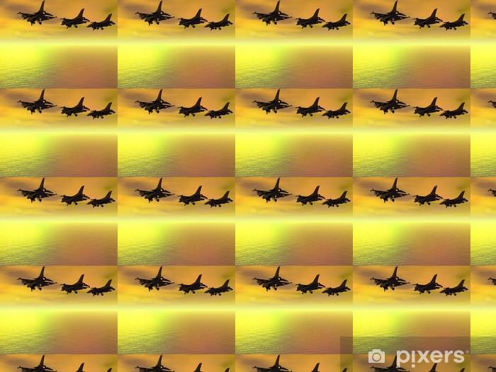 Tapeta na wymiar winylowa Trzy F-16 Fighter Jets nad oceanem - Znaki i symbole