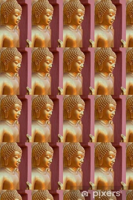 Papier peint vinyle sur mesure Visage de Bouddha d'or - Religion