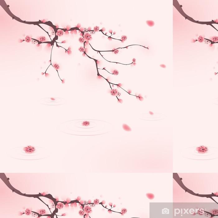 Oryantal Tarzı Boyama Ilkbaharda Kiraz çiçeği Duvar Kağıdı Pixers