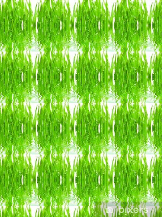 Vinyl behang, op maat gemaakt Vers gras met dauwdruppels - Seizoenen
