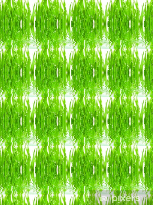 fresh grass with dew drops Vinyl Custom-made Wallpaper - Seasons