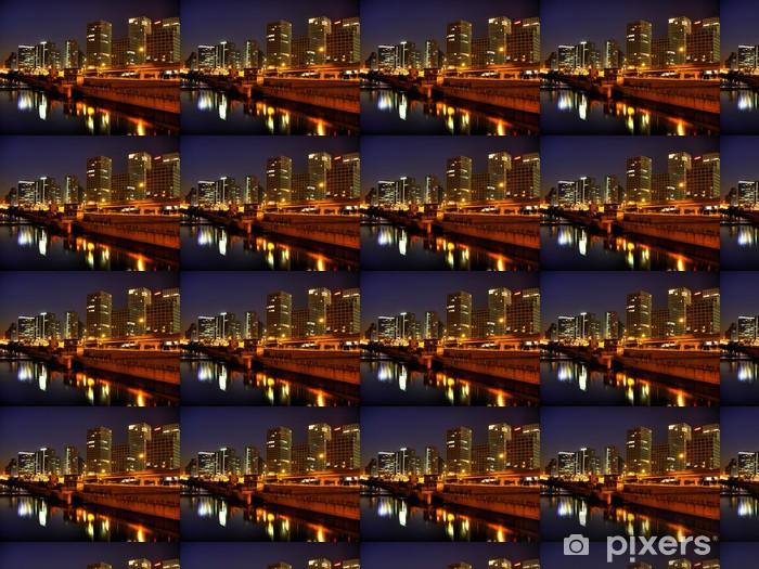 Papier peint vinyle sur mesure Pékin - Skyline (Soho, Guomao) - Villes d'Asie