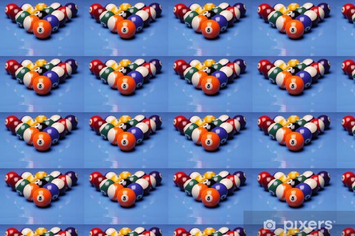Papel pintado estándar a medida Bolas de billar en la mesa - Entretenimiento
