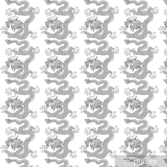 Vinylová tapeta na míru Čínský drak - Nálepka na stěny