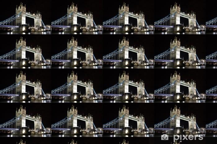 Vinylová tapeta na míru Tower bridge v noci, Londýn - Témata