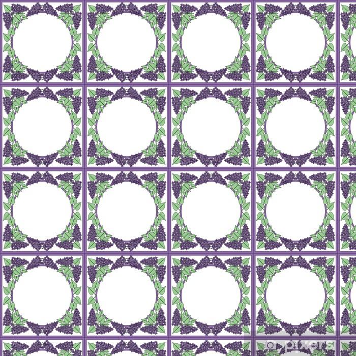 Papier peint vinyle sur mesure Pastel carré lilas sur blanc - Maisons et jardins