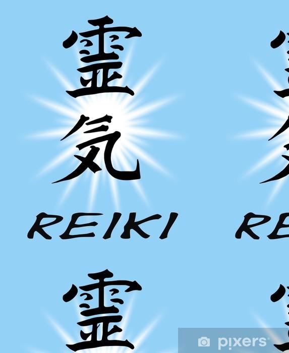 Vinylová Tapeta Reiki, Schriftzug - Značky a symboly