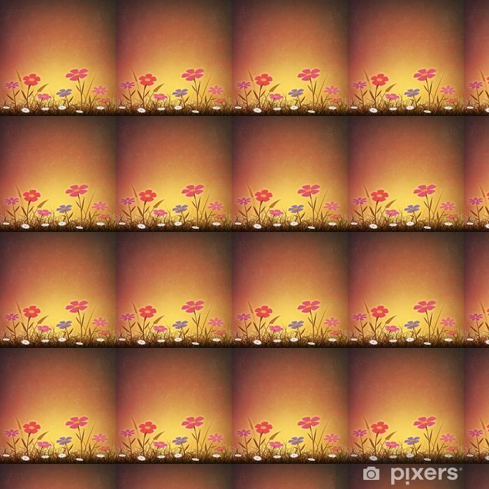 Papier peint vinyle sur mesure Un simple fond artistique grunge de cru avec des fleurs - Fleurs