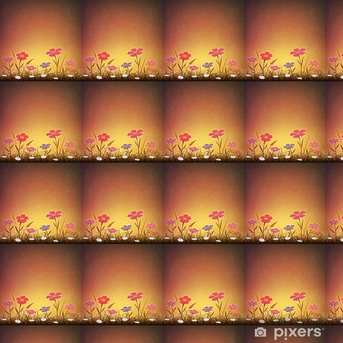 A Simple Artistic Vintage Grunge Background with Flowers Vinyl custom-made wallpaper - Flowers