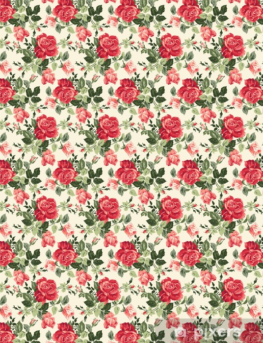 Fancy rose wallpaper Vinyl custom-made wallpaper - Themes