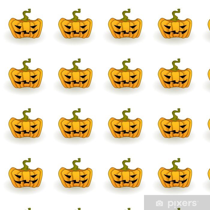 Tapeta na wymiar winylowa Duży pomarańczowy Jack-o-lantern dyni na białym tle. - Święta międzynarodowe