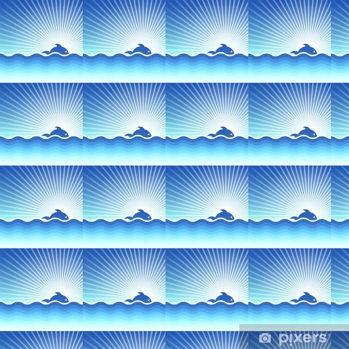 Papier peint vinyle sur mesure Vecteur de fond sur un thème de la mer. - Textures