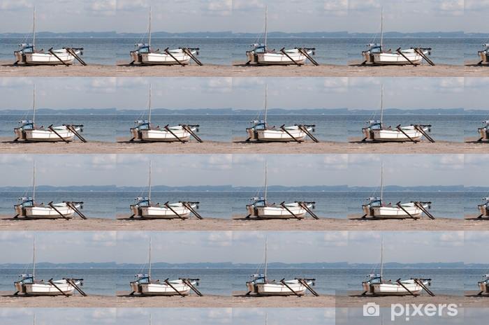 Tapeta na wymiar winylowa Łodzie rybackie na plaży w Świętych - Rolnictwo