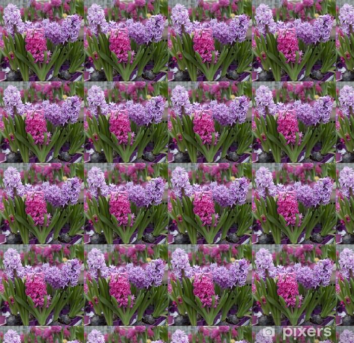 Papier peint vinyle sur mesure Fleurs de jacinthes en macro - Fleurs
