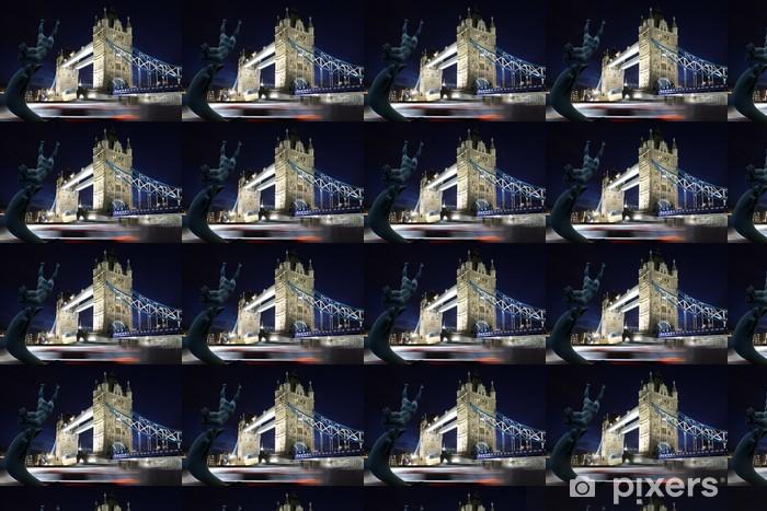 Tapeta na wymiar winylowa Tower Bridge w nocy w Londynie, Wielka Brytania - Tematy