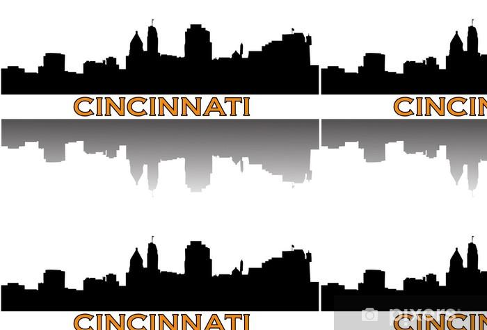 Vinylová Tapeta Cincinnati panorama. - Amerika