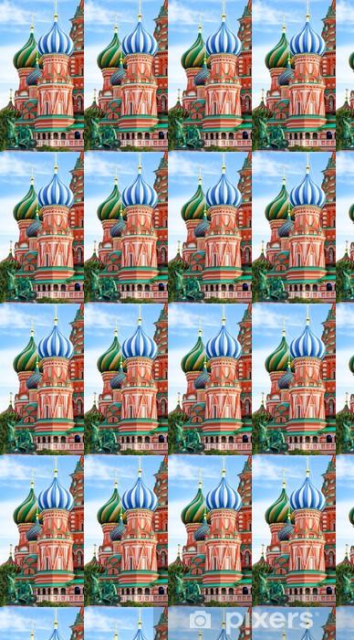Vinyltapete nach Maß Kuppeln der berühmten Leiter der Basilius-Kathedrale am Roten Platz, - Religion