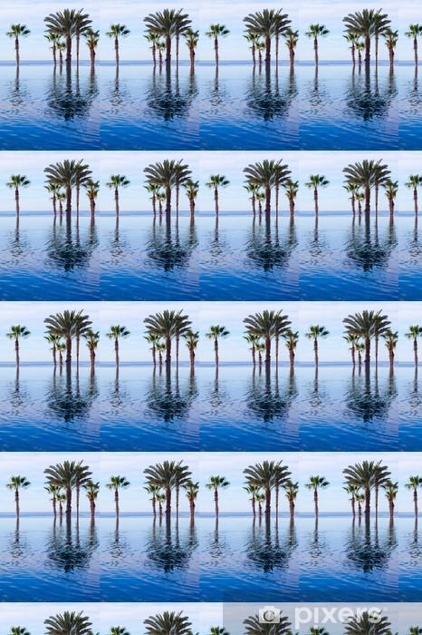 Papier peint vinyle sur mesure Luxueux Piscine et Palm Trees - Amérique