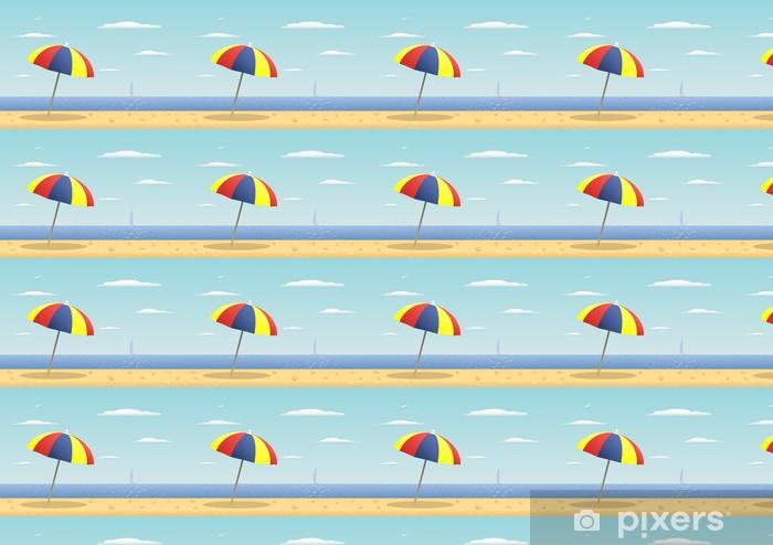 Papel pintado estándar a medida Sombrilla - Vacaciones