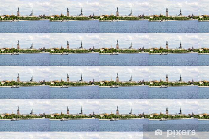 Papier peint vinyle sur mesure Vue panoramique de la vieille ville de Riga et la Daugava, la Lettonie - Europe