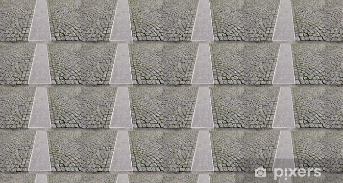 Papel pintado estándar a medida Antiguo pavimento gris en un patrón en una antigua ciudad medieval europeo. - Industria pesada