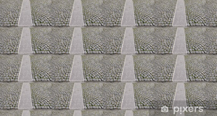 Old grey pavement in a pattern in an old medieval european town. Vinyl custom-made wallpaper - Heavy Industry