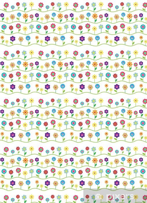 Tapeta na wymiar winylowa Powtarzalne kwiatowy wzór - Kwiaty