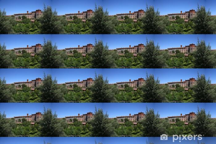 Tapeta na wymiar winylowa Paciano, średniowieczne miasteczko w Umbrii - Europa