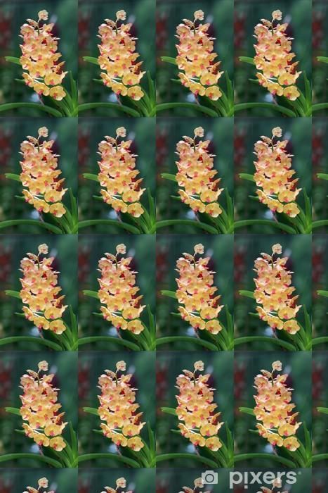 Özel Boyutlu Vinil Duvar Kağıdı Turuncu orkide bir grup - Çiçekler