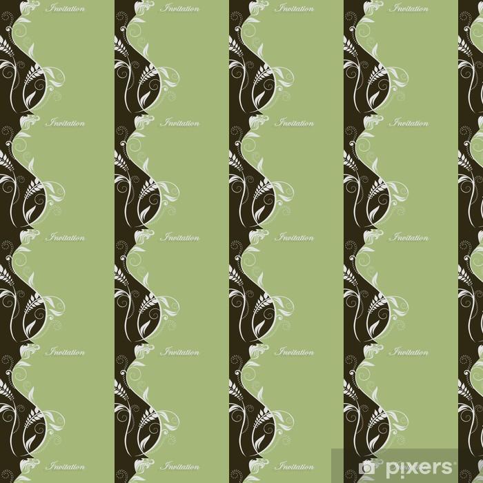 Papier peint vinyle sur mesure Invitation vert - Célébrations