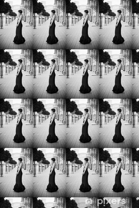 Papier peint vinyle sur mesure Robe noir - Femmes
