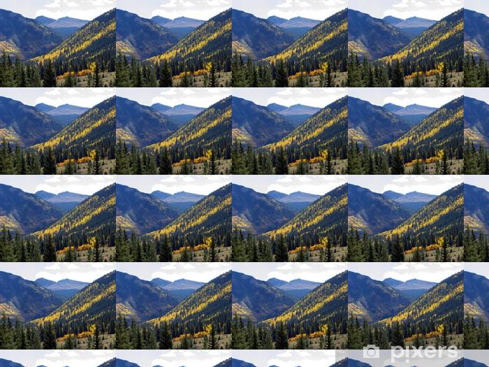 Papier peint vinyle sur mesure Couches de montagne - Montagne