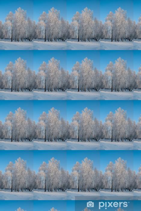 Березы зимой Vinyl custom-made wallpaper - Seasons