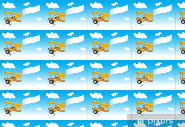 Papier peint vinyle sur mesure Pilote dans l'avion - Dans les airs
