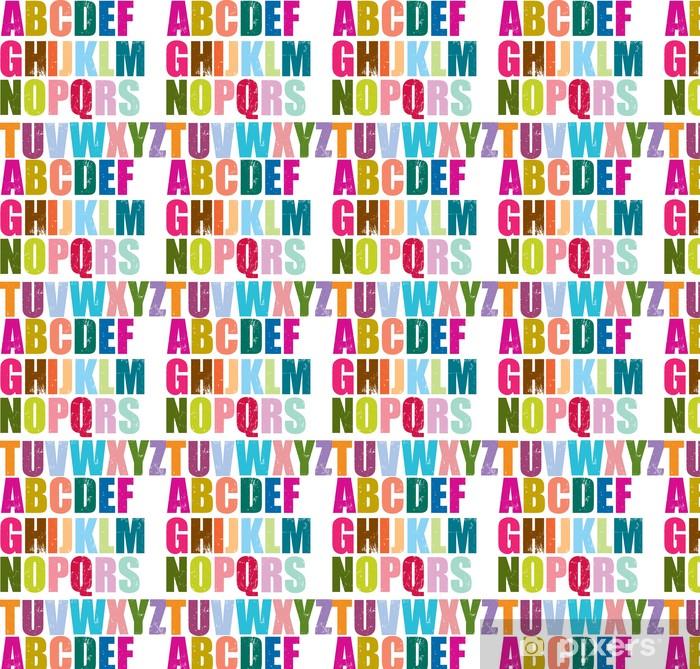 Papier peint vinyle sur mesure Alphabet de style typographique - Thèmes