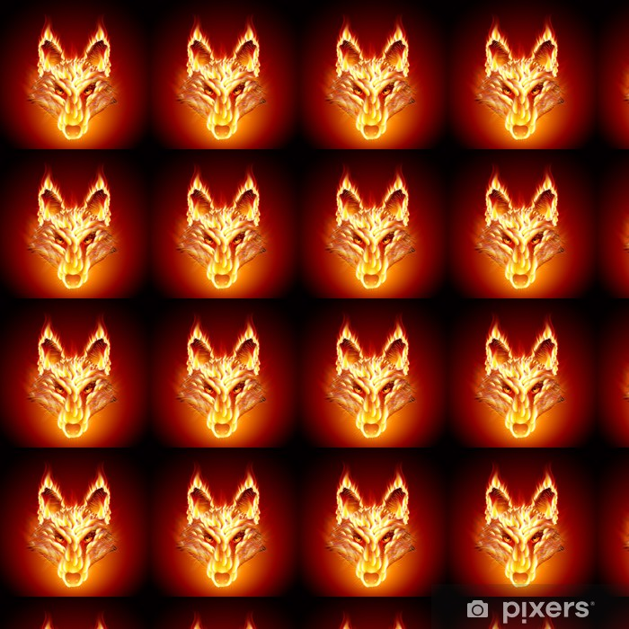 Vinyltapete nach Maß Fiery Hengst. Wolf - Säugetiere