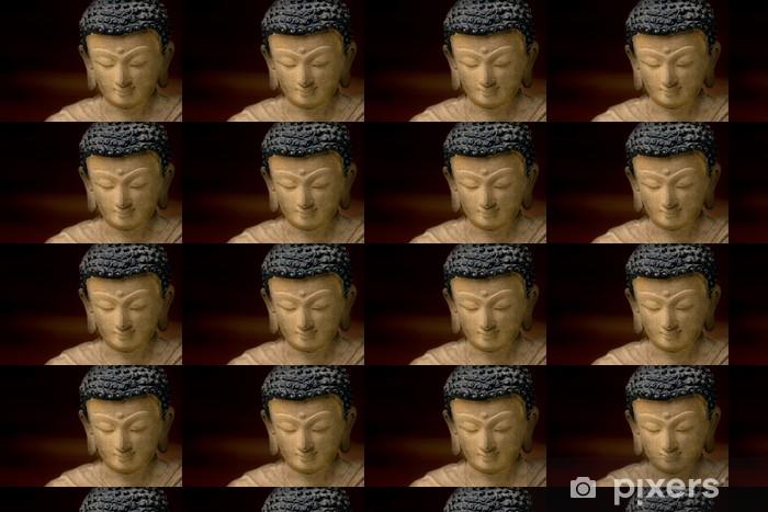 Papier peint vinyle sur mesure Close-up image d'un visage de Bouddha en bronze, en provenance du Népal. - Thèmes