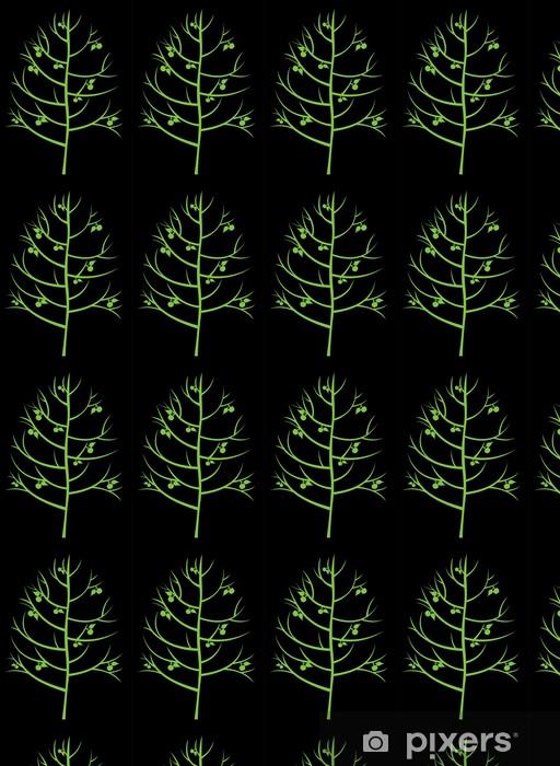 Vinyltapete nach Maß Abstrakten Baum mit Äpfeln - Bäume