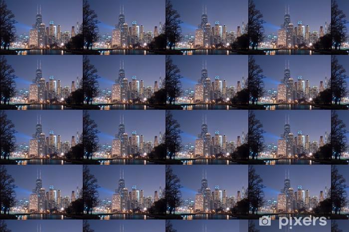 Papier peint vinyle sur mesure Chicago nuit - Amérique