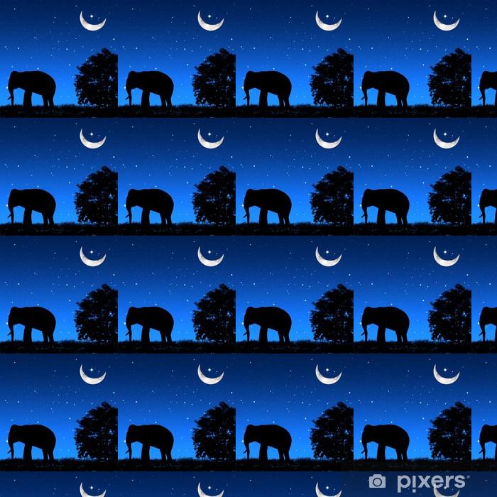 Tapeta na wymiar winylowa Cień słonia tricky nocą - Pokój